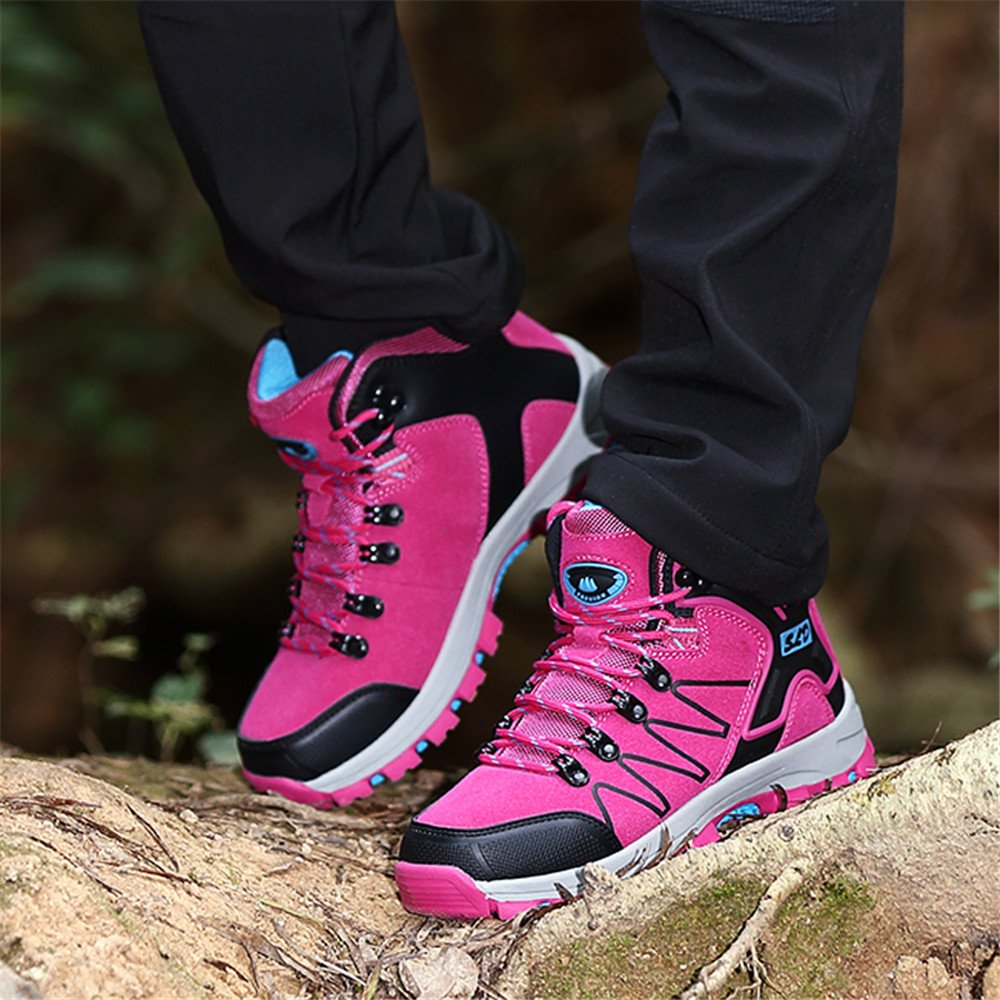 FEOZYZ Women's High Top Waterproof Hiking Boots (39 M EU/7.5 B(M) US, Rose) by FEOZYZ (Image #7)