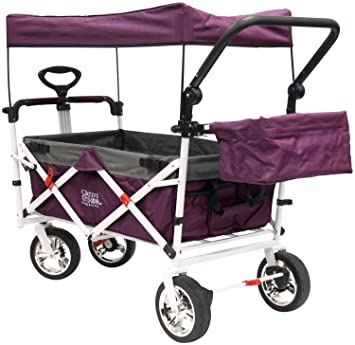 Amazon Com Folding Wagon For Kids Beach Foldable Canopy With Sun