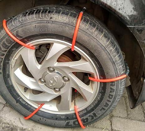 Fácil suave metal acero hielo nieve antideslizante Tire Cadenas de DIY para Jeep ATV Mini Van