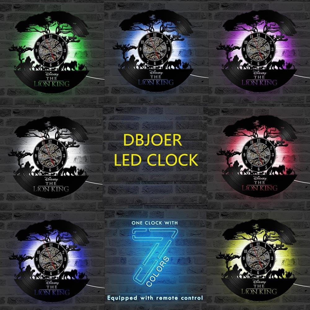 Paisaje Africano LED Reloj de Pared Control Remoto Silencio ...