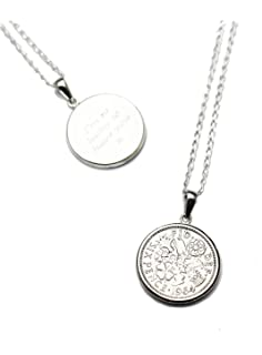 Year 1938 Lucky Sixpence Locket on 20