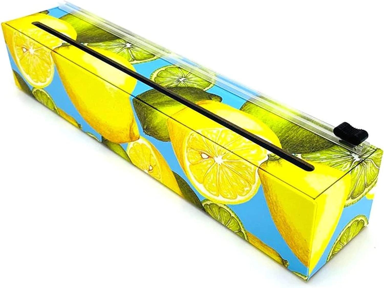 ChicWrap Lemon Plastic Wrap Dispenser with 12
