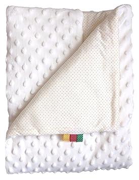 Manta bebé Minky algodón dulce Plaid Moelleuse bata polar doble cara 75 x 100 (B/B-3): Amazon.es: Hogar