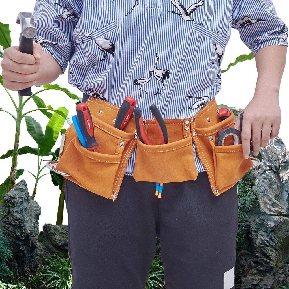Laissez Les Enfants samuser Fancylande Tablier Porte-Outil de Jardinage Enfant Trousse /à Outils en Cuir