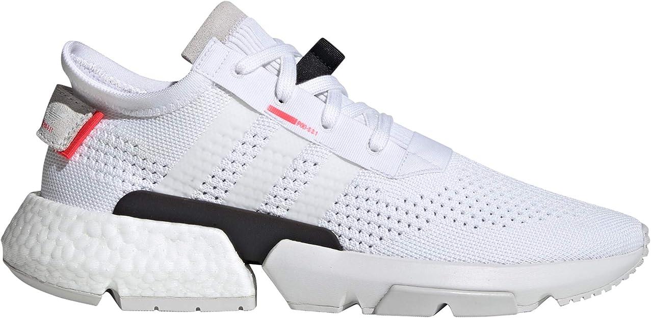 adidas POD-S3.1 Negra Y Gris. Zapatillas Deportivas para Hombre. Sneaker. Point of Deflection Systen (44.5 EU, White/Shock Red): Amazon.es: Zapatos y complementos