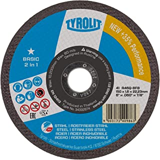TYROLIT 222998  cutting disc for steel & stainless steel 125 mm pack of 25