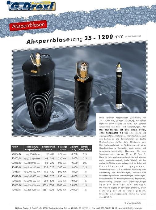 Rohr-Absperrblase 70-150 mm 2,5 bar Druck Rohrabsperrblase,Hochwasserschutz