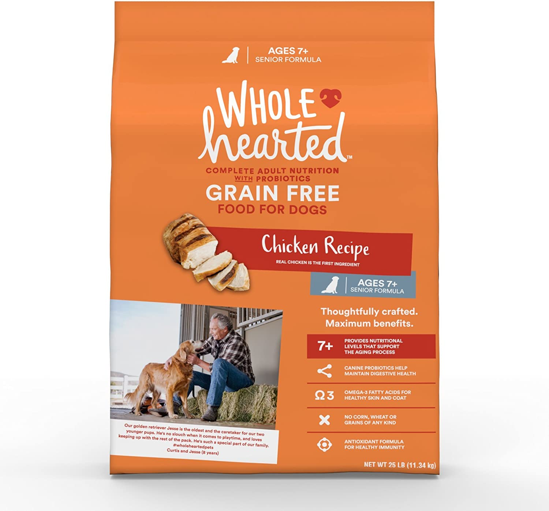 WholeHearted Grain Free Senior Chicken Recipe Dry Dog Food