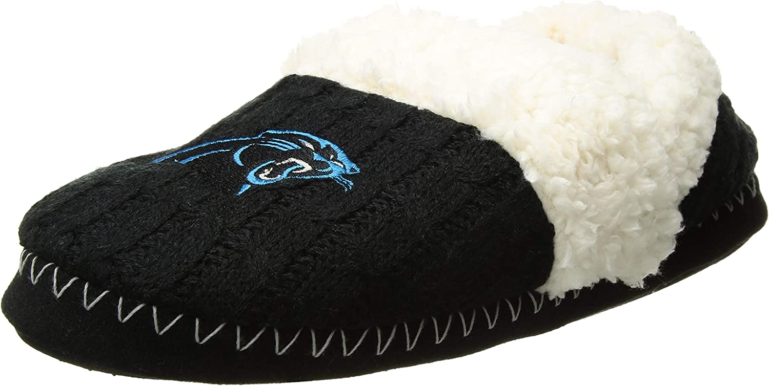 FOCO Womens NFL Team Logo Moccasin Slippers : Clothing