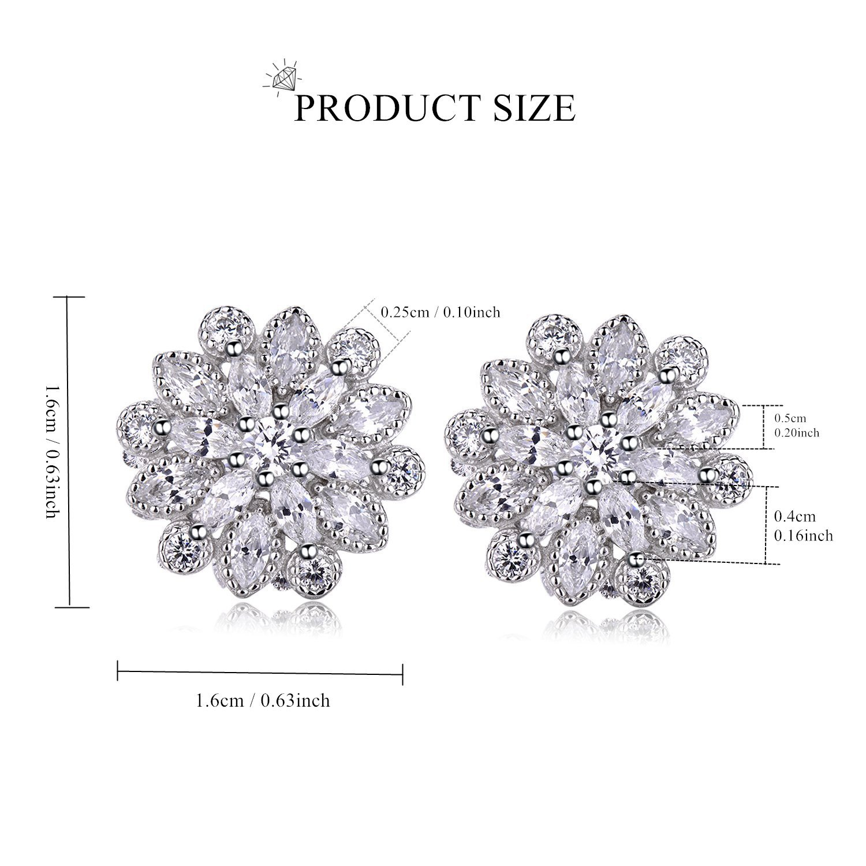 Echt 925 Sterling Silber Ohrringe Zirkonia crystal Hochzeit Nr 226