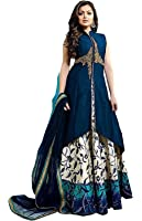 Globalia Creation Women's Cotton Silk Lehenga Choli (Beige,Free Size, Semi-Stitched)