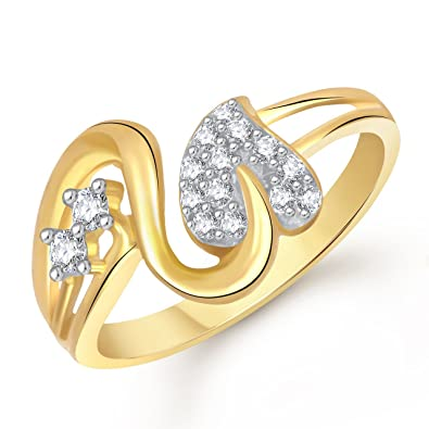 Buy Meenaz Love Ring Valentine Gifts Heart Ring Gold 24K Fancy