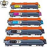CMYBabee Cartuchos de tóner compatibles con Brother TN-241 TN-245 para Brother DCP-9020CDW DCP-9015CDW HL-3140CW HL-3150CDW HL-3170CDW MFC-9140CDN MFC-9330CDW MFC9340CDW (paquete de 5)