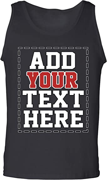 Add Your Text Custom LADY TANK TOP Create Your Tee Tank Top Personalize Design