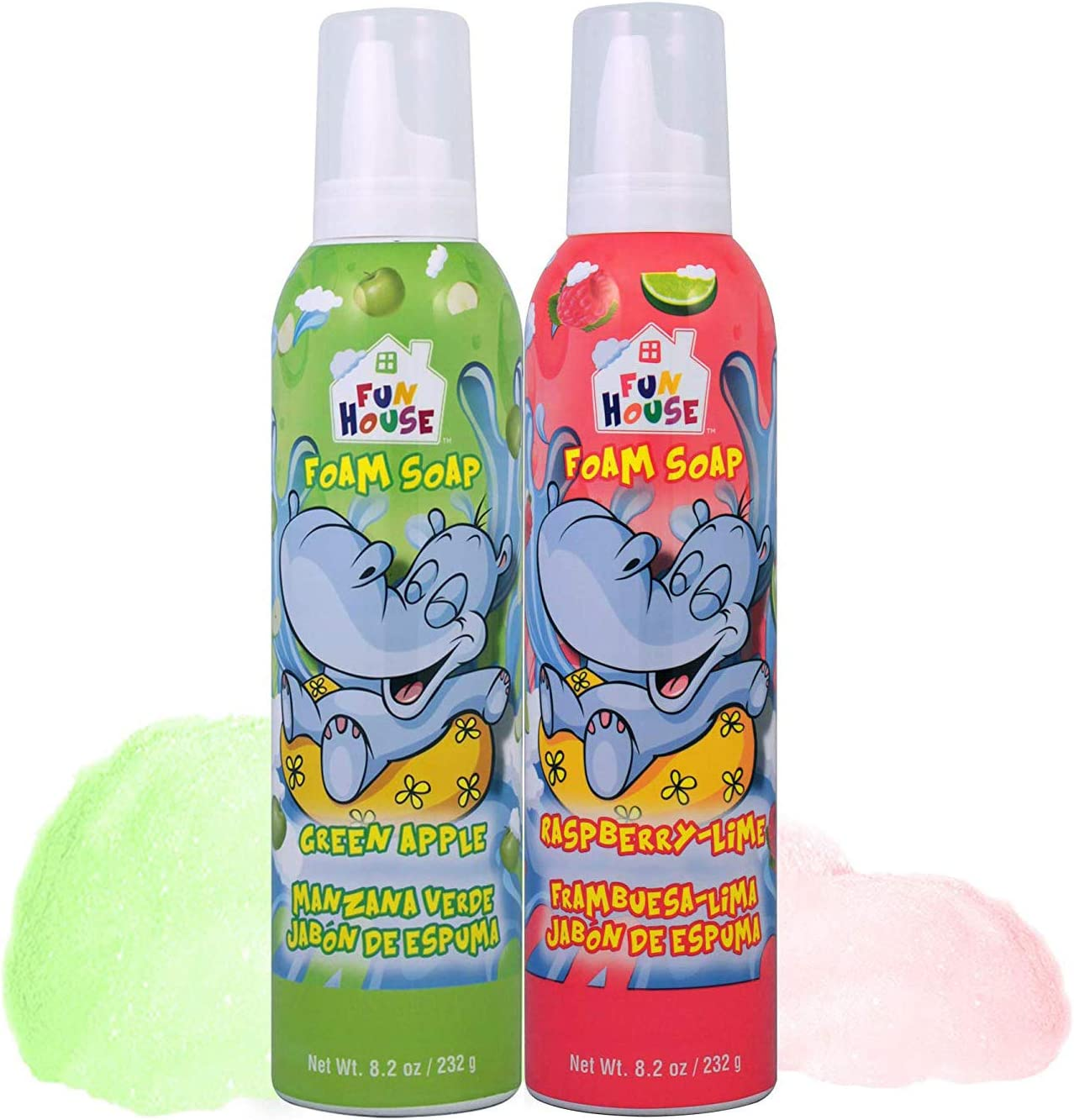 Moneysworth & Best Fun House Kids Foam Soap Green Apple & Raspberry-Lime, 2 Pack