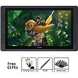 HUION Digitaler HD Stift-Display Zeichenstiftmonitor mit 20 ExpressKeys und Touch Bar 8192 Drucksensitivität 21,5 Zoll KAMVAS GT-221 Pro