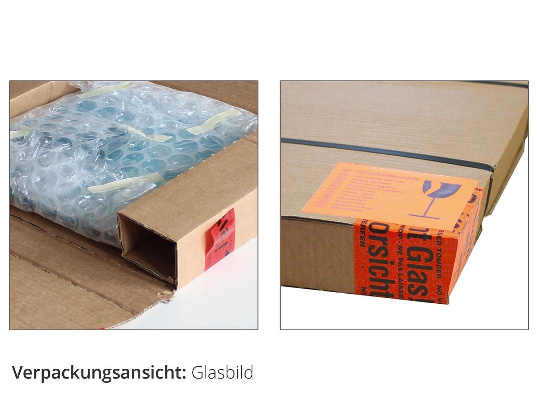 Artland Qualitätsbilder I Glasbilder Deko Glas Bilder 100 x 50 50 50 cm Wellness Zen Wasser Foto Blau A5KT Wassertropfen B00KLTXPZW Glasbilder f33837
