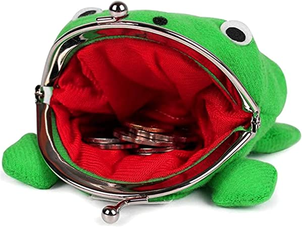 Cute Frog Wallet Anime Cosplay Frog Coin Purse Frog Exchange Purse Small Purse Funny Plush Toy Gift