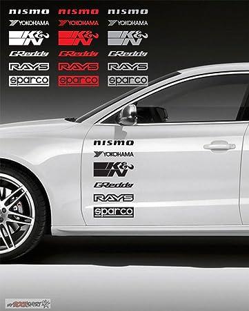 Sponsor Set Nr 34 2 X 30x18 Cm Aufklebersticker Von Myrockshirt Autoaufkleberautolackscheibe Tuning Racing Aus Hochleistungsfolie Ohne