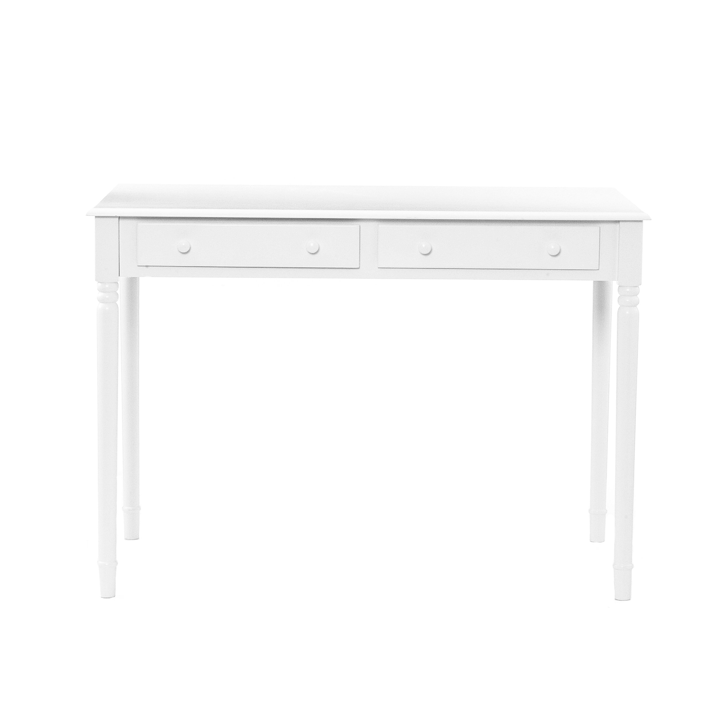 Southern Enterprises 2 Drawer Writing Desk 42'' Wide, Crisp White Finish by Southern Enterprises