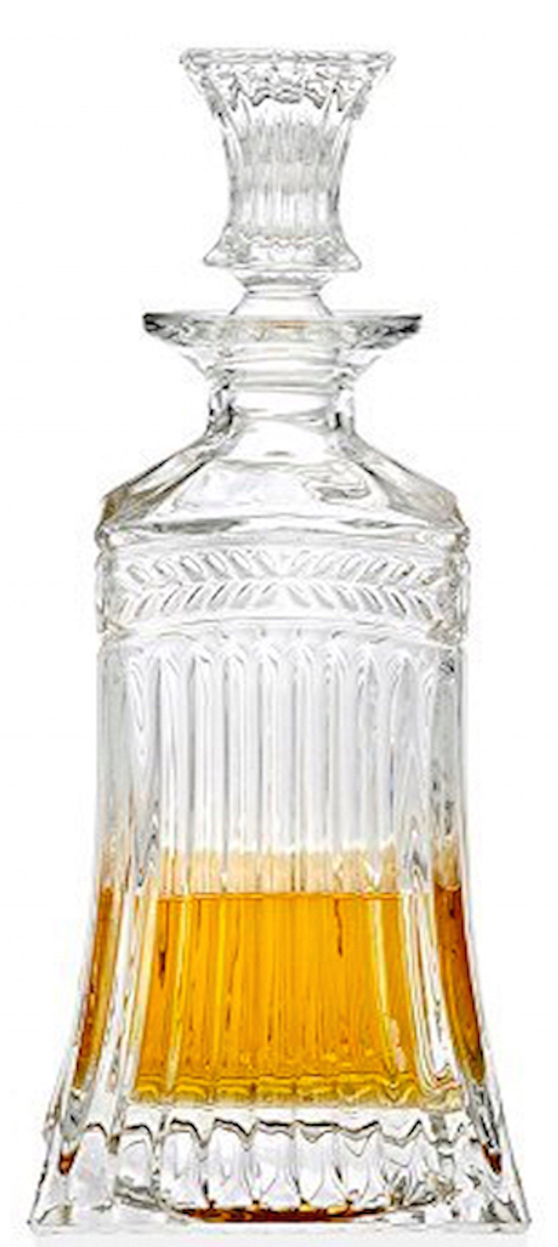 Circleware Empire Elegant Liquor Whiskey Glass Decanter with Square Stopper, Kitchen Drinking Glassware Carafe Pitcher for Water, Wine, Liquor Beverage, Beer and Best Bar Barrel Dining Décor, 532ml