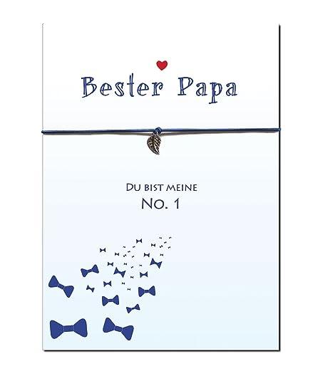 ♥ BESTER PAPA ♥ - DU BIST MEINE No. 1 → elastisches Armband mit ...