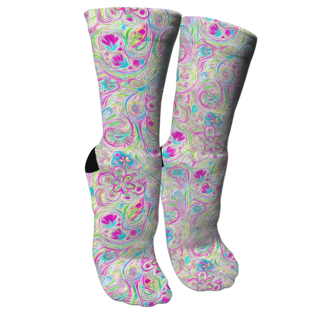 Paisley Watercolor Brights Casual Cotton Crew Socks Cute Funny Sock,great For Sports And Hiking