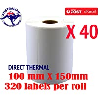 Direct Thermal Shipping 100x150mm 4x6 Label 4 Fastway Startrack eParcel (Qty: 40)