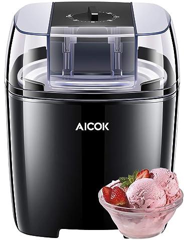 Aicok - Máquina de helado para yogurtera de 1,5 l con función de ...
