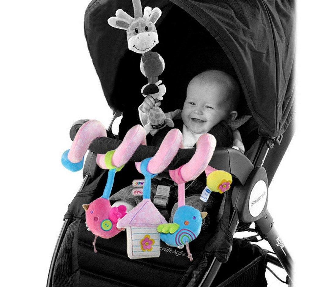 Happy Cherry Espiral de Actividades Sonajero Musical con Sonidos M/úsica Colgante Multicolor Elefante para Beb/és Reci/én Nacidos Ni/ños Carrito Cochecito Cuna