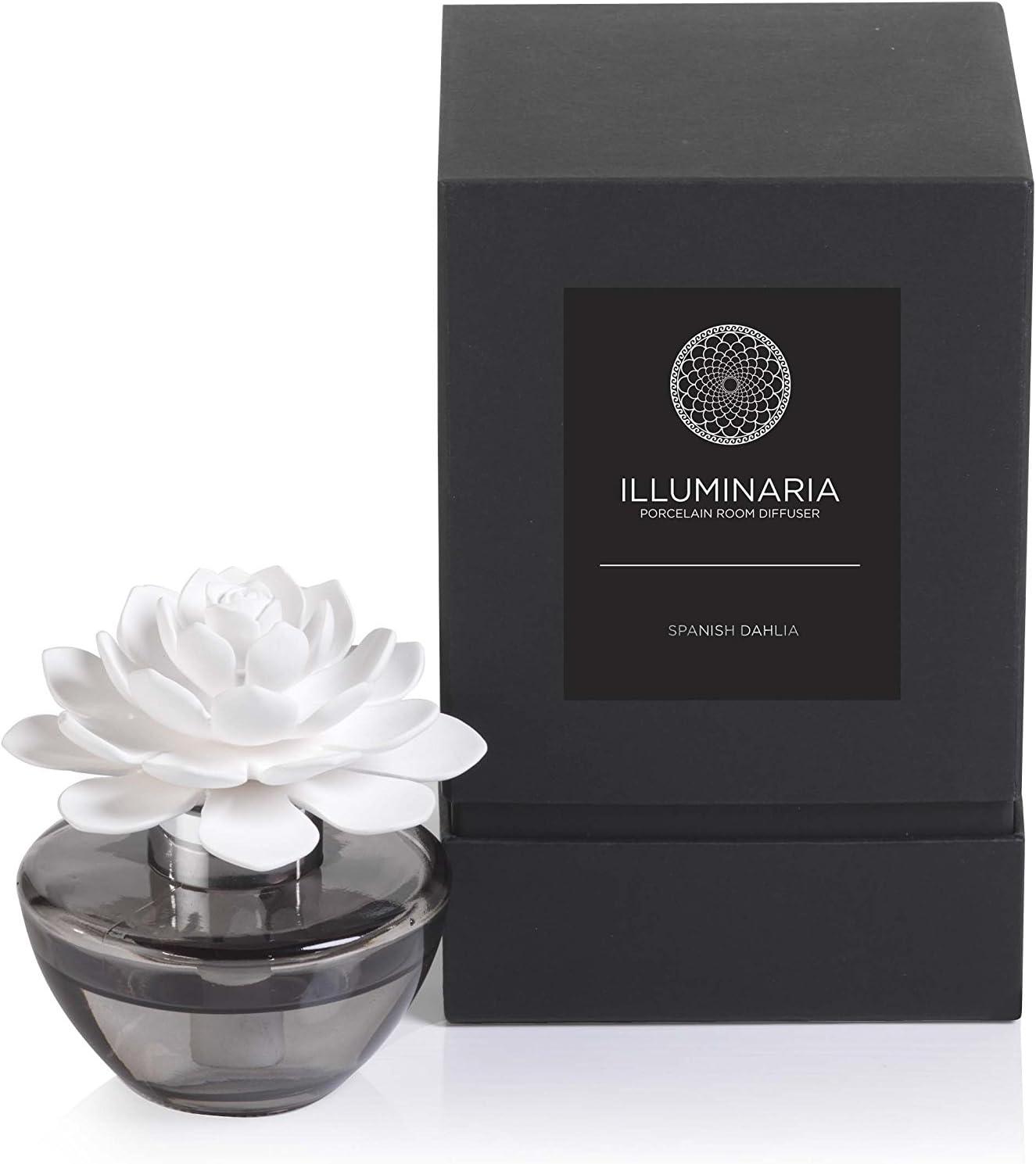 Zodax Illuminaria Porcelain Diffuser, Spanish Dahlia Fragrance