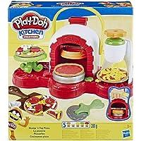 Play-Doh E4576EU4 La Pizzeria - Forno per pizza con 5 vasetti di pasta da modellare, Multicolore, 3 + anni