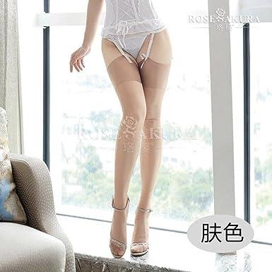 cef156209 Rose Sakura 15d Retro Pure Nylon No Elastic Sexy Womens Thigh High ...