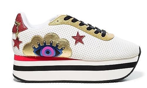 Desigual - Zapatillas de Sintético para Mujer Blanco 41 EU: Amazon.es: Zapatos y complementos