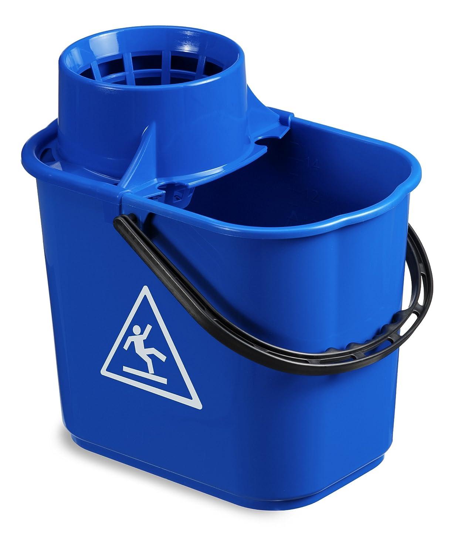 capacidad 14 l azul Cubo con escurridor TTS 00005041 Easy