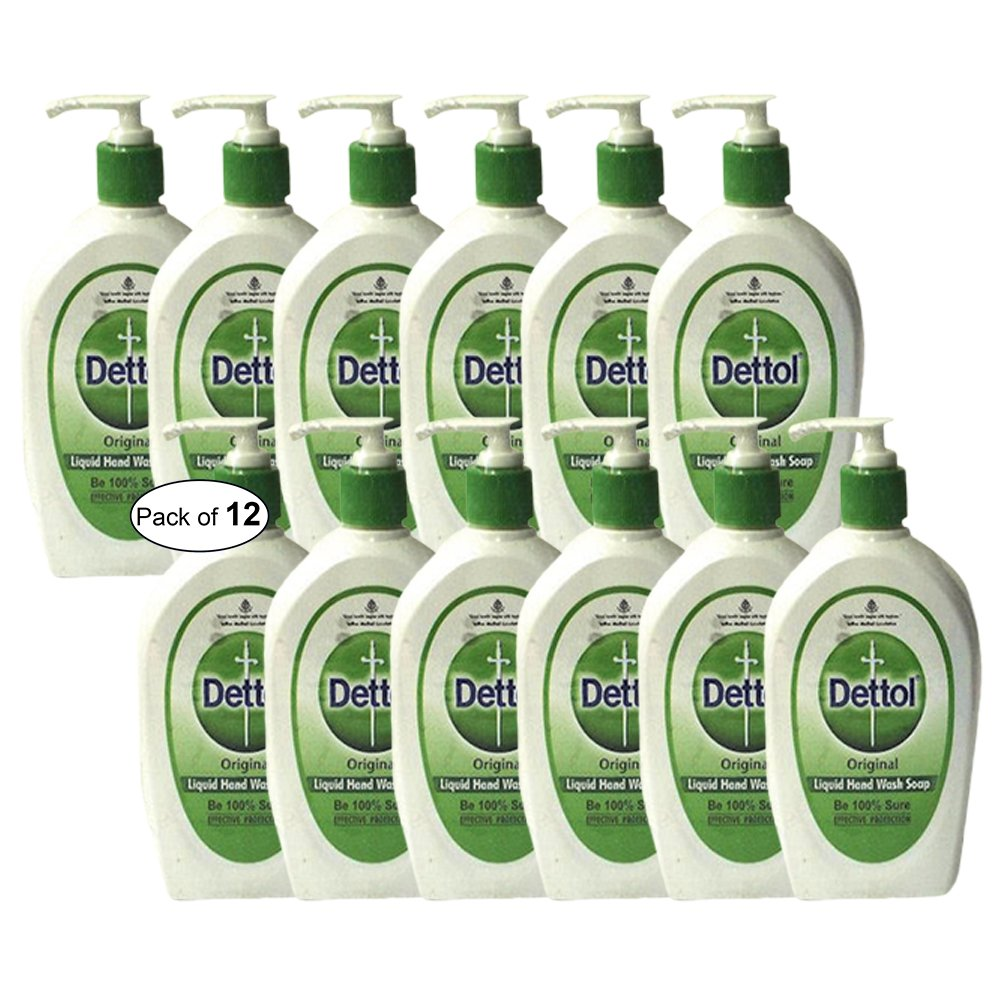 Dettol Original Liquid Hand Wash(200ml) (Pack of 12) Dettol ®