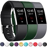 GEAK For Fitbit Charge 2 Bands 3-Pack, Classic Replacement Bands for Fitbit Charge 2, Large and Small