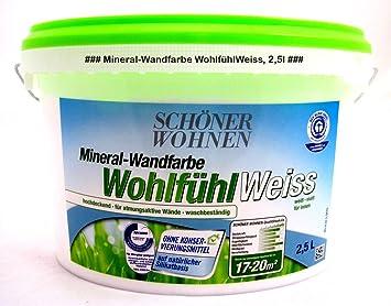 Mineral Wandfarbe Wohlfuhlweiss Matt Fur Allergiker Geeignet 2 5 L Amazon De Baumarkt