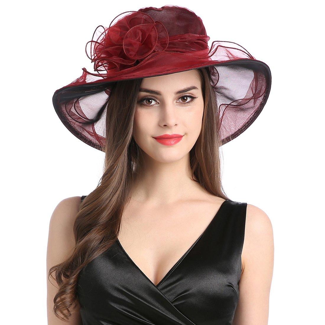 Women's Organza Church Kentucky Derby Fascinator Tea Party Wedding Hat