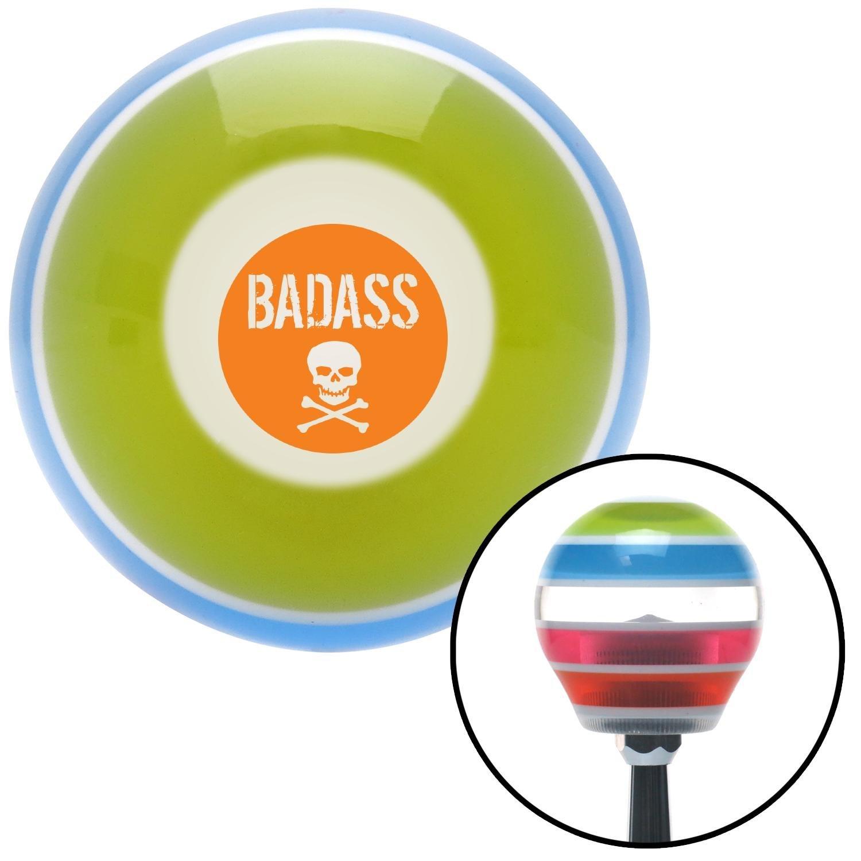 American Shifter 272888 Orange Badass Badge Stripe Shift Knob with M16 x 1.5 Insert