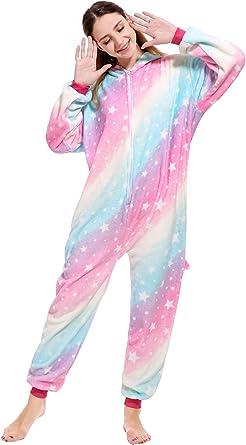 Woneart Unicornio Disfraces Pijama Animales Adultos Traje Disfraz ...