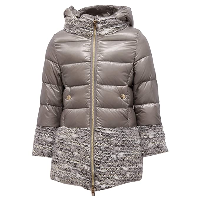 Herno 6033X Cappotto Bimba Girl Grey Piumino Jacket  Amazon.it   Abbigliamento fb610de1620