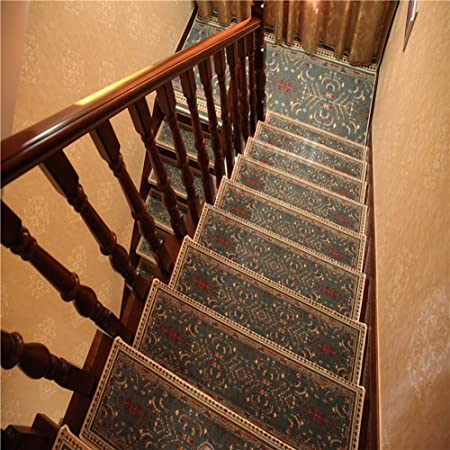 Antideslizantes para escaleras Autoadhesiva For Escaleras De La Alfombra Jacquard Pad Silent Escalera Paso Mats Alfombra De Interior Casero Decoración TZXSHO (Color : B(80x30cm), Size : 1pc): Amazon.es: Hogar