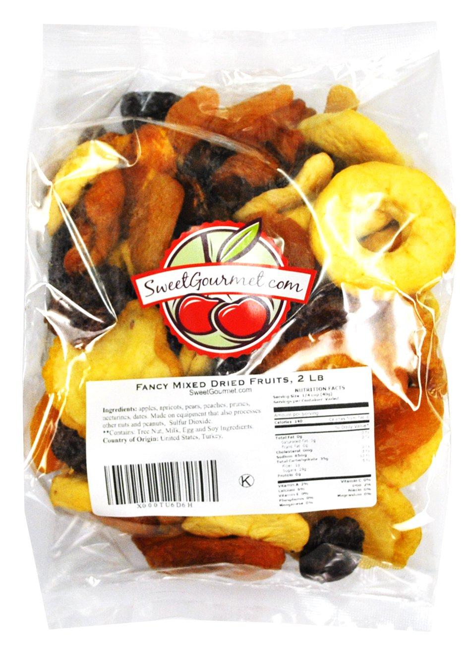 Fancy Mixed Dried Fruits, (2 lb Mixed Fruits) by Green Bulk