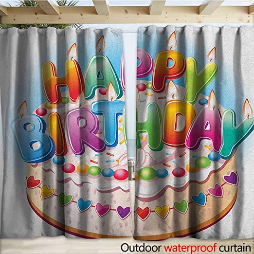 warmfamily - Cortina de cumpleaños para niños, diseño de pérgola con Dibujos Animados, Color Rosa, Naranja, Azul y Verde: Amazon.es: Jardín