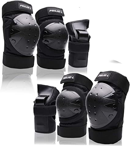 6X Elbow Wrist Knee Pads Sports Safety Protective Gear Guard for Adult Skating✨