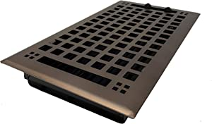 """Madelyn Carter Artisan Oil Rubbed Bronze Wall and Floor Vent Covers (Steel) 4"""" x 10"""" (5.5"""" x 11.5"""" Face)"""