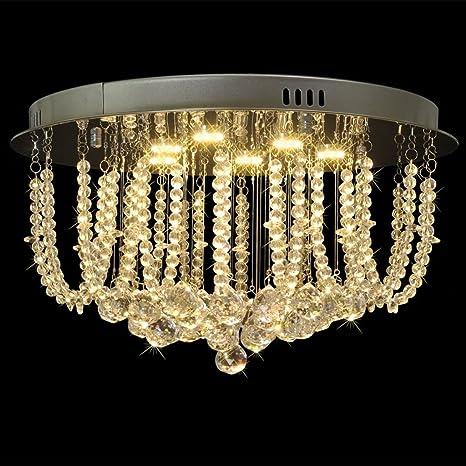 vidaXL Lámpara de araña, candelabro con cristales y luces ...