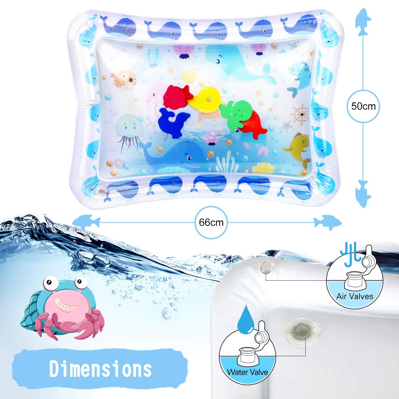 Wassermatte Baby Wasserspielmatte Baby Aufblasbare Spielmatten Aufblasbare Baby Wassergef/üllte Spielmatte Spielzeuge