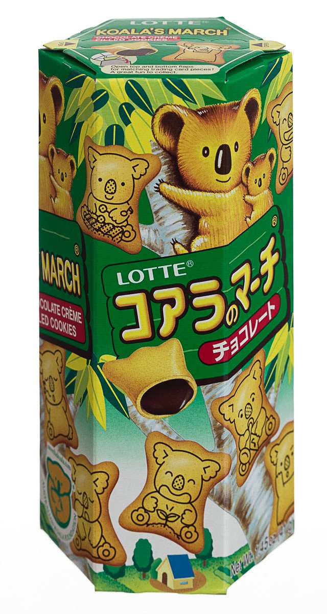Lotte Koala Cookie Chocolate, 1.45-Ounce Cookies (Pack of 12) by Lotte